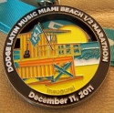 Latin Music Miami Beach Half Marathon Medal 2011