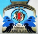 Sarasota First Watch Half Marathon Medal 2011