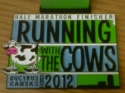 Running With The Cows Half Marathon Medal 2012