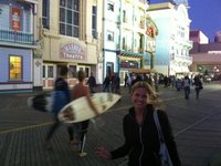 Kristin on the Boardwalk