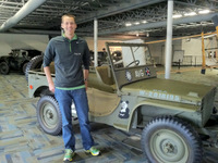 Mike with military jeep